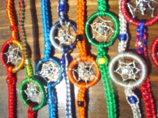FRIENDSHIP BRACELETS DREAMCATCHER MIXED LOT HANDMADE PERU