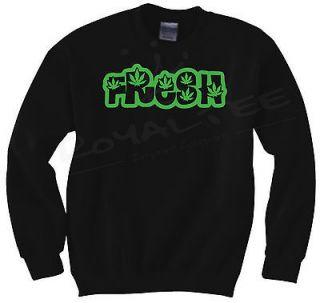 Crewneck Sweater HUF JDM Dope OG Kush Pot Weed Bong Prince Supreme