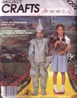 UNUSED pattern child costume Wizard of OZ Dorothy Tin Man sz (4 6