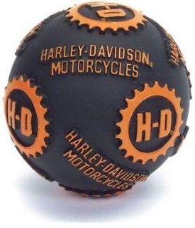 Harley Davidson Motorcycles Original Black Vinyl Ball Dog Toy