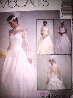 UNCUT McCalls Pattern Wedding Gown Dress FF 8047 Alicyn
