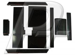 Club Car DS Golf Cart Black Diamond Plate Combo Accessory Kit with
