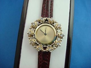 FABERGE CROWN ETERNITY DIAMOND WATCH BY FRANKLIN MINT 14K YELLOW GOLD