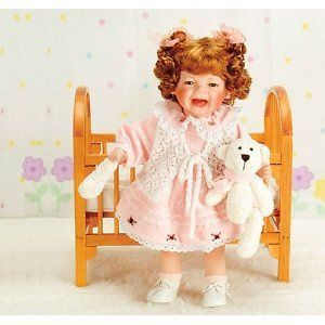 Duck House Heirloom Doll 20 Crying Trudie & Teddy Bear