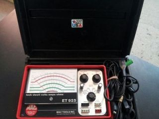 Mac Tools Tach/Dwell/Vol ts/Amps/Ohms ET925 Tester