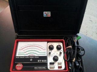 Mac Tools Tach/Dwell/Vol ts/Amps/Ohms ET925 Tester