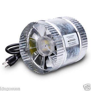 Vent Hydroponics 6 Inline Duct Booster Fan 160CFM Exhaust Blower