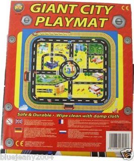 Kids Giant City Playmat Floor Play Mat for Toy Cars Road Railway Train