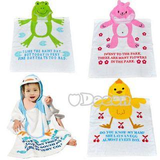DN00 New Soft Baby Kid Child Hoodie Bathrobe bath Towel Washcloths