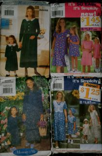 Matching Mother Daughter Dress patterns choose one