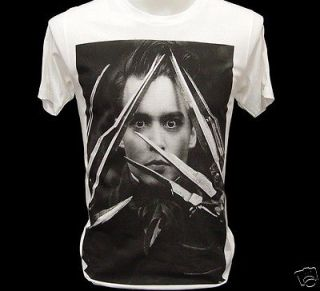 EDWARD SCISSORHANDS Johnny Depp Retro Movie Star T Shirt M