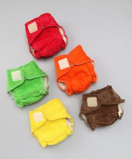 Lot 6 Rearz Smitten Velour X Large Cloth Diapers Velcro Organically