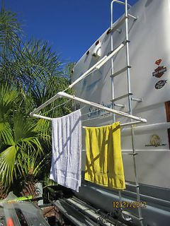 RV CLOTHES LINE DRYING RACK CAMPING PORTABLE CLOTHESLINE