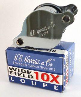 10X Wide Field Loupe H.E. Harris and Company Model 1018 FAST, FREE