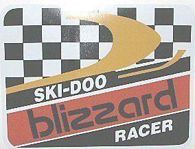 Vintage Snowmobile Ski doo Blizzard Racer Decal small