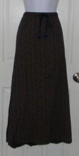 EDDIE BAUER Sz M Medium Petite Skirt Long Full Length Elastic