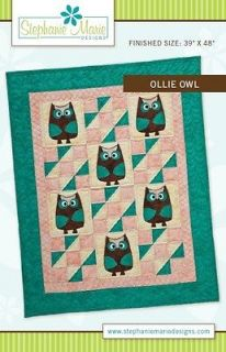 Ollie Owl Animal Baby Sewing Quilt PATTERN