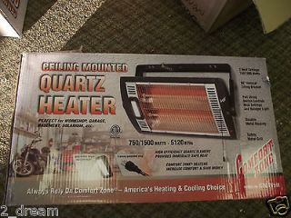 Zone CZQTV5M Infrared Quartz Heater   Wall or Ceiling Mountable NEW