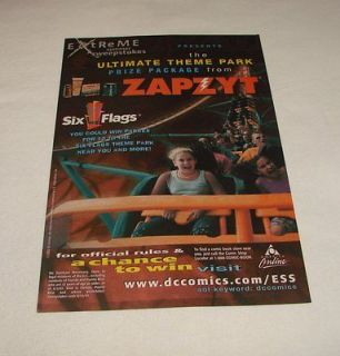2003 Zapzyt ad page ~ SIX FLAGS EXTREME SUMMER CONTEST