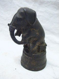 VINTAGE CAST IRON CIRCUS ELEPHANT ANIMAL FIGURAL STILL BANK TOY