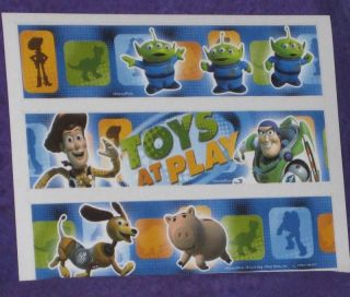 TOY STORY EDIBLE IMAGE RICE PAPER SHEETS,PRINTS. 3 PC.