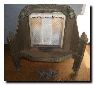 Old Vintage Antique Kennedy Radiant Heater Cast Iron & Ceramic