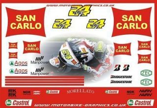 Moto GP 2009 San Carlo Gressini Elias Decals Graphics