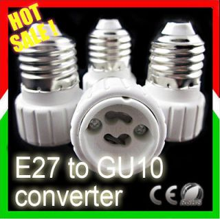 10x E27 Screw to GU10 socket base LED Bulb Halogen Light lamp Adapter