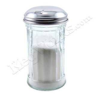 Flip Cap Glass Sugar Dispenser   12 oz   Coffee Shop Tabletop