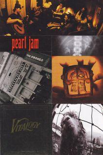 PEARL JAM STICKERS Official Promo 2011 VS VITALOGY Rare MINT CHEAP