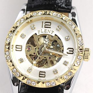 Newly listed Nice Lady Pure White Automatic Mechanical Skeleton Watch