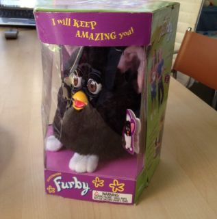 Original FURBY Talking Electronic Tiger Toy 1998 New In Box