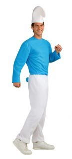 Smurf The Smurfs Blue Hat Gnome Adult Mens Costume NEW