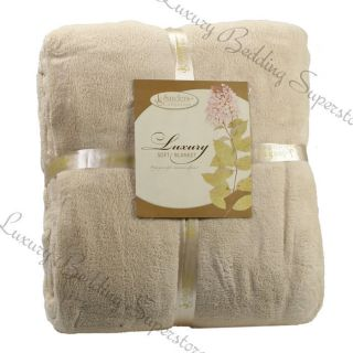 Ultra Super Soft Fleece Plush Luxury BLANKET All Sizes   6 colors