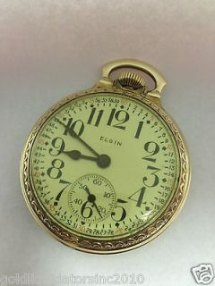 Antique Elgin Pocket Watch Railroad 17 Jewels 1946