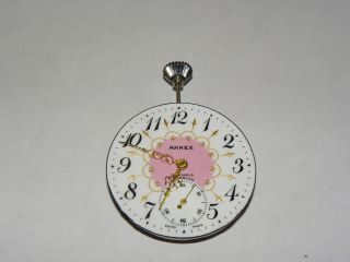 Arnex Incabloc 15 Jewel Ladies Pink Swiss Vintage Pocket Watch