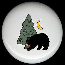 BEAR and TREE and MOON Cabin Rustic KNOBS Pulls