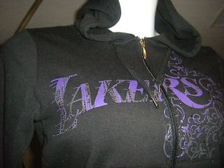 NWT Los Angeles Lakers Womens Jacket Hoodie, Size Small, Crystals