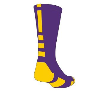 Baseline Elite Socks   Purple/Gold (M, L, XL)   proDRI fabric, BNIB