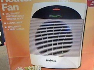 New Holmes Energy Saver Heater Fan 1500 W Timer HEH8001