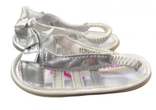 Rocawear Infant Girls White & Pink Slip On Sandals Size NB/3M 3/6M 6