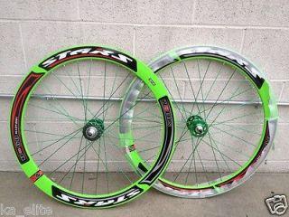 51mm Stars Wheelset Wheel Rims Fixie Fixed Gear RED WHITE GREEN GOLD