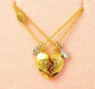 Genuine Juicy Couture Best Friend Heart Necklaces