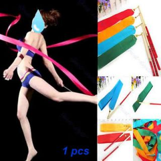 4M Gym Dance Ribbon Rhythmic Art Gymnastic Streamer Baton Twirling Rod
