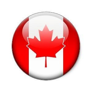 Canadian Flag stickers decals