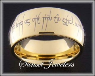 Newly listed 9MM GOLD TUNGSTEN ELVISH LOVE POEM RINGS SIZES 5 15