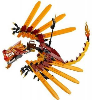 BRAND NEW LEGO Ninjago 2507 FIRE DRAGON Only NO MINIFIGS RARE or