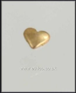 SOLID 18CT GOLD TOOTH or NAIL ART HEART