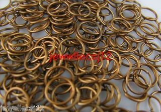 400pcs copper plated metal open jump rings 10mm
