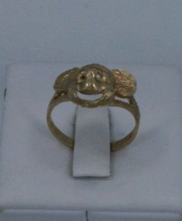 10k yellow gold Mickey Mouse ring